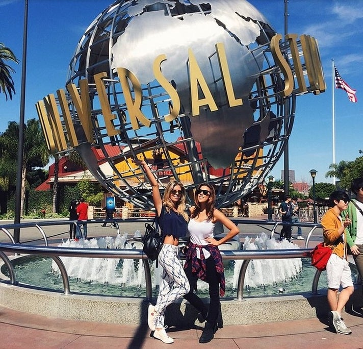 Tash Oakly at Universal Studios Hollywood