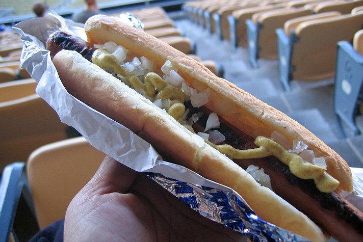 Dodger Dog at Dodger Stadium